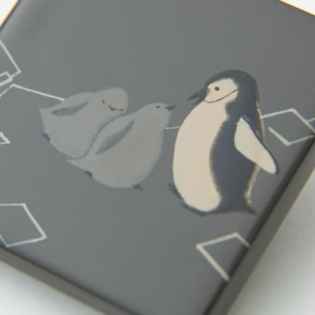 ヒゲペンギンの親子ブローチ
