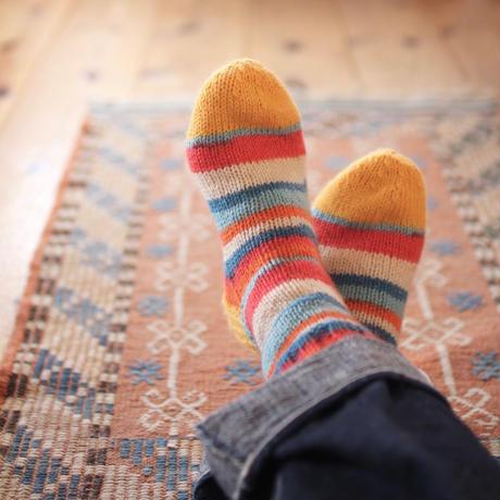 【終了】ワークショップ@東京fukuya(5月)「フィンランドの糸で編むマルチカラーソックス」お申し込み