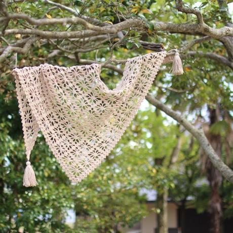 【終了】ワークショップ@京都イトコバコ (8月)「リネンの糸で編む三角ショール」お申し込み