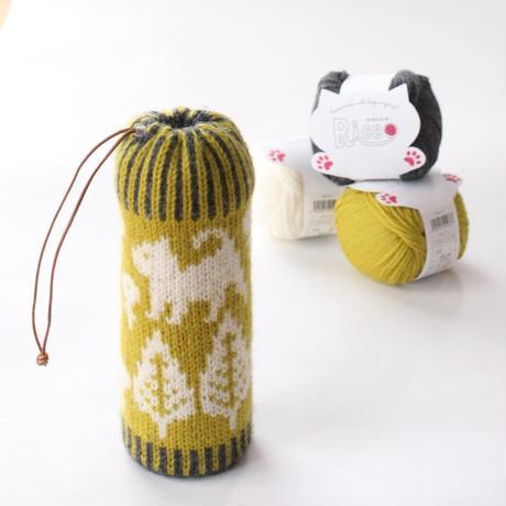 【終了】ワークショップ@月猫カフェ(富山、3/23)「模様編みを楽しむボトルケース」お申し込み