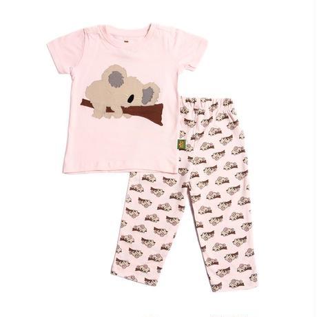 子供用 パジャマ 上下セット コアラ ピンク 100%オーガニックコットン GOTS認定