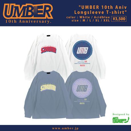 UMBER 10th Aniv L/S T-shirt (White)