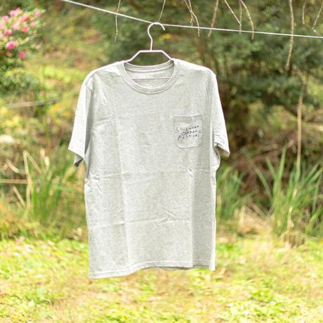 オーガニックコットンTシャツ バックプリント:グルグル