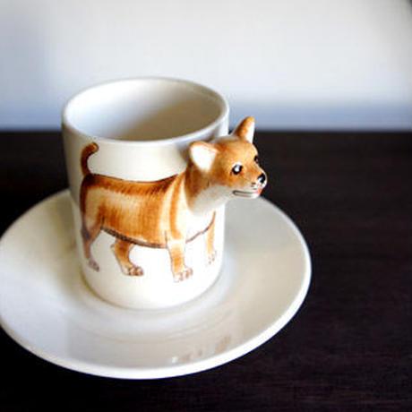 ★ 3D立体 アニマル カップ&ソーサー / Chihuahuas (チワワ) ★