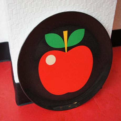 北欧雑貨 メラミンプレート 「 Apple  (リンゴ)」