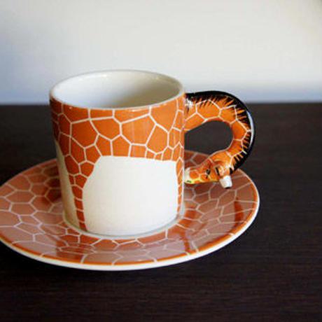 ★ 3D立体 アニマル カップ&ソーサー / Giraffe (キリン) ★