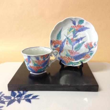 コーヒーカップ 石楠花紋