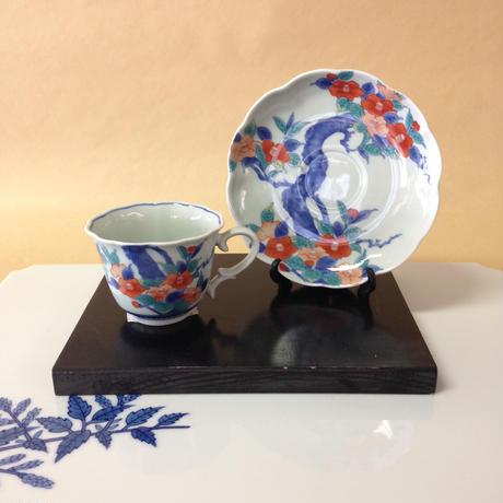 コーヒーカップ 椿紋