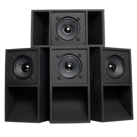 "4set ""MINI SOUND SYSTEM""  Back-loaded [BLACK]"