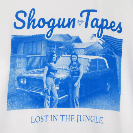 LOST IN THE JUNGLE  LONG TEE リブ [WHITE BLUE]