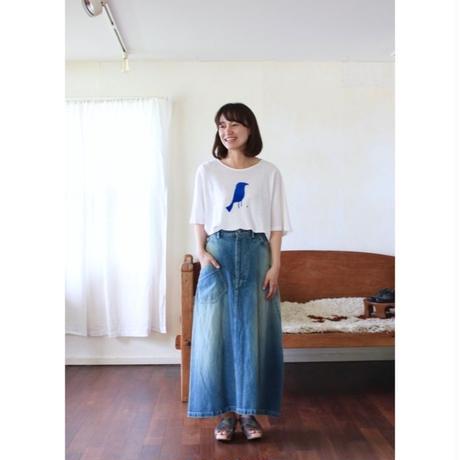 ミナ ペルホネン   always デニムスカート -blue-
