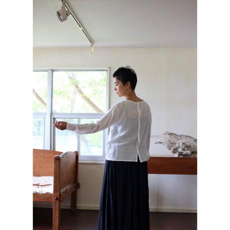 humoresque     plain blouse silk - white -