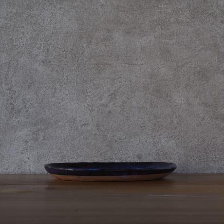 楕円皿・小【青萩釉】