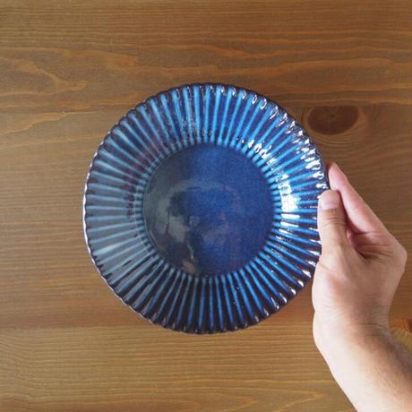 輪花7寸鉢【青萩釉】