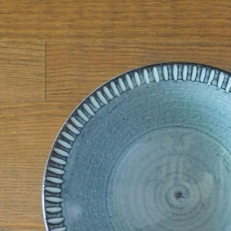 しのぎリム5寸鉢(グレー)