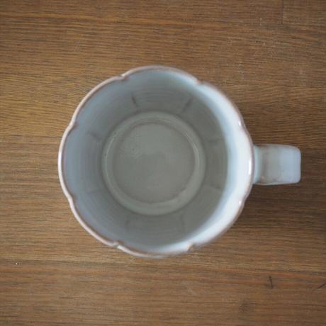輪花マグカップ【白萩釉】