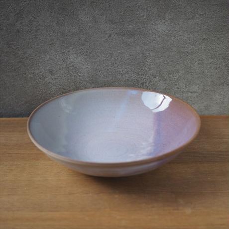 8寸鉢【粉引紫】