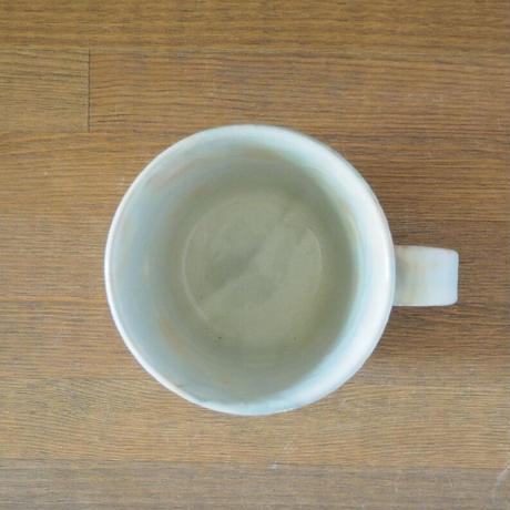 しのぎカフェオレカップ・大 (御本手)