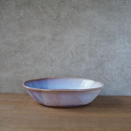 カレー皿・小【粉引紫】