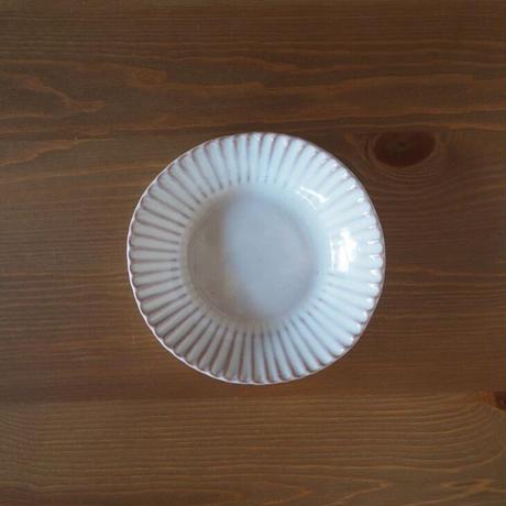 輪花6寸鉢【白萩釉】