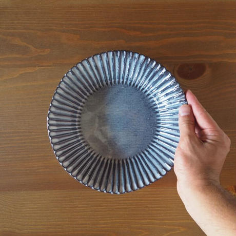 輪花7寸鉢【グレー】
