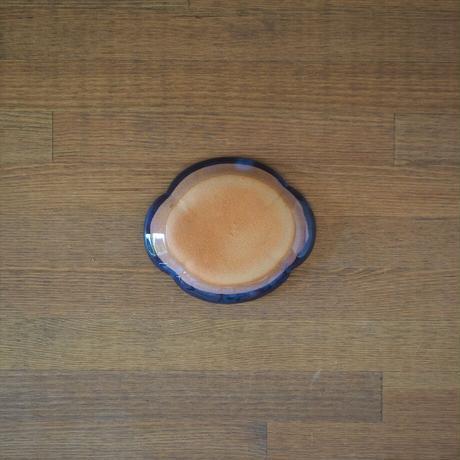 木瓜4寸皿【青萩釉】