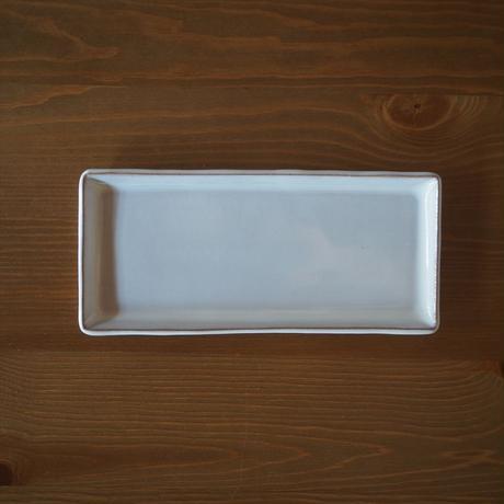 長方皿【白萩釉】