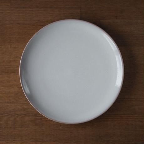 8寸丸皿【白萩釉】