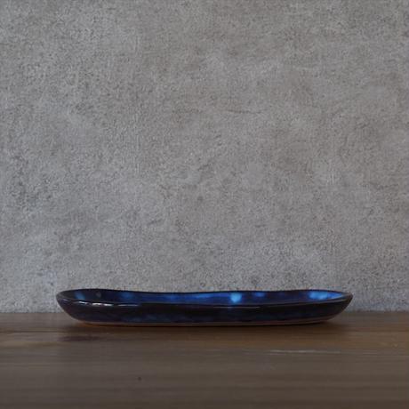 楕円皿・大【青萩釉】