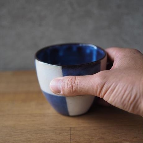 市松模様フリーカップ【青萩釉】