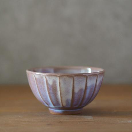 面取飯碗・小(粉引紫)
