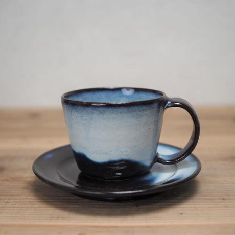 青萩釉 コーヒーカップ&ソーサー