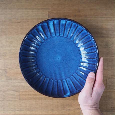 8寸しのぎ鉢【青萩釉】