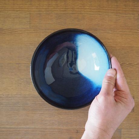 吹付5寸浅鉢【青萩釉】