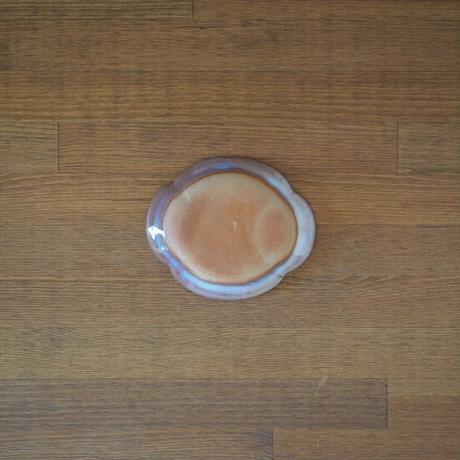 木瓜4寸皿【粉引紫】