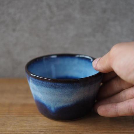 吹付蕎麦猪口カップ【青萩釉】