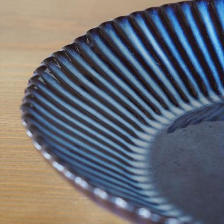 輪花8寸鉢【青萩釉】