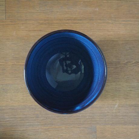 まゆ型飯碗(青萩釉)