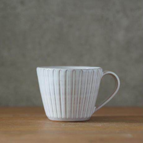 しのぎカフェオレカップ【白萩釉】