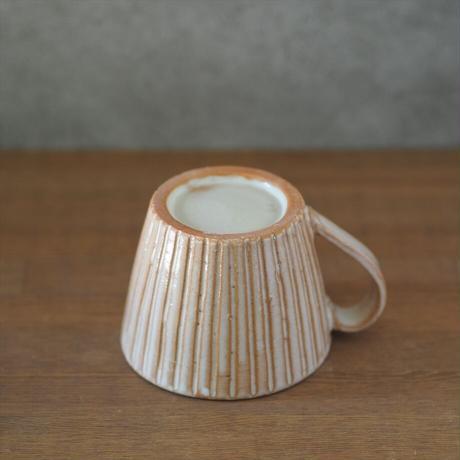 しのぎカフェオレカップ・大【粉引】