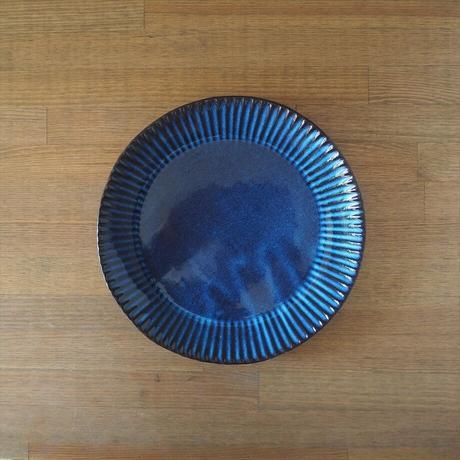 輪花8寸皿【青萩釉】