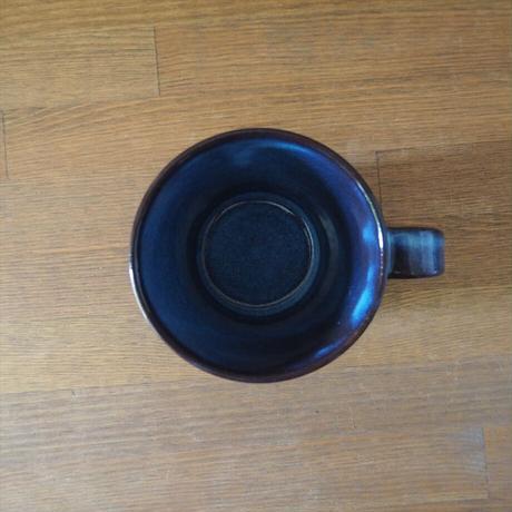 しのぎマグカップ(青萩釉)