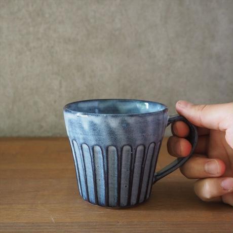 しのぎマグカップ(グレー)