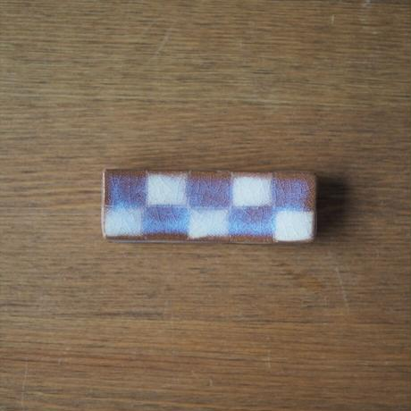 市松模様箸置き【粉引紫】