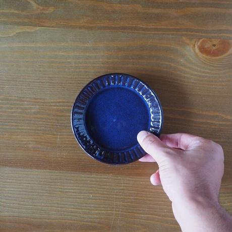 しのぎ4寸皿【青萩釉】