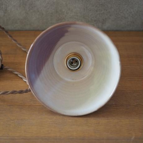 吊り下げ照明 金具付き コード60cm (粉引紫)