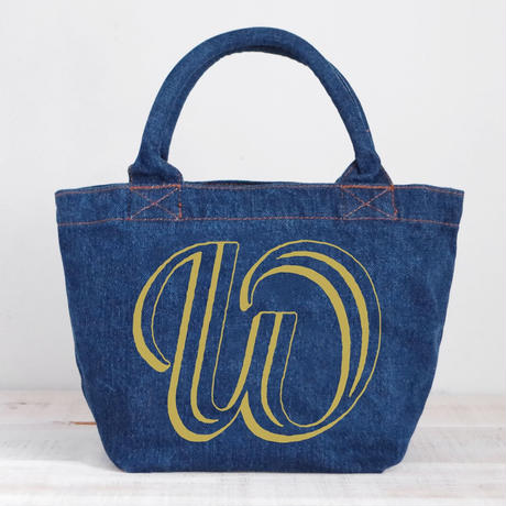 Organic Denim Initial Tote W / Ginger Beach Inn Original