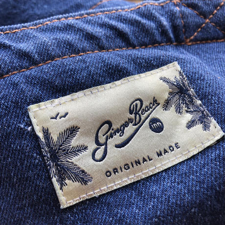 Organic Denim Initial  Tote B  / Ginger Beach Inn Original