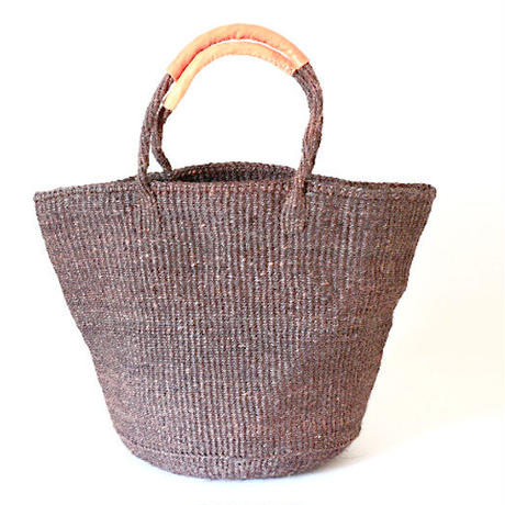 Siasal Basket  / LL / Lleather wrapped handle