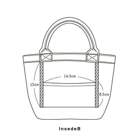 Organic Denim Initial Tote U / Ginger Beach Inn Original